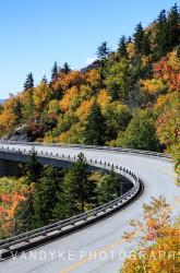 autumn, seasonal, Fall, Blue Ridge Parkway, Linn Cove Viaduct, highway