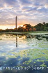 Washington Monument autumn Constitution Gardens Washington DC