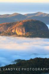 Looking Glass Rock fog sunrise