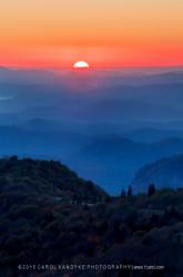 sunrise blue ridge mountains north carolina