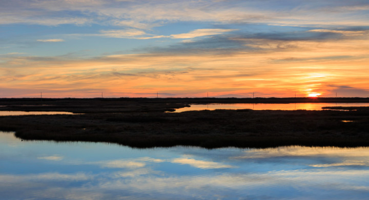 marsh sunrise coastal outer banks nc