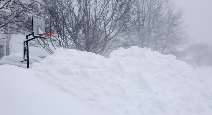Blizzard Snow Mounds