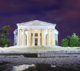 Jefferson Memorial Moonlight Monument landmark Washington DC
