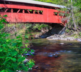 Red Covered Bridge Pennsylvania