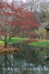 Gibbs Garden, Georgia, gazebo, water reflection