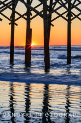 Sunrise Folly Beach Pier, South Carolina