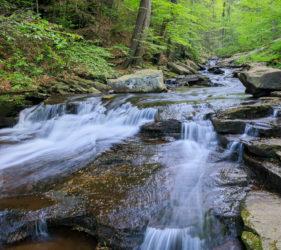 Kitchen Creek, cascade, water, Ricketts Glen State Park, PA