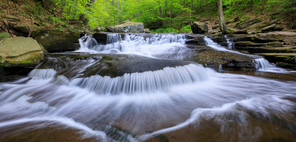 cascade, water, Kitchen Creek, Pennsylvania, Ricketts Glen State Park