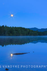 moonlight, Price Lake, blue hour, NC