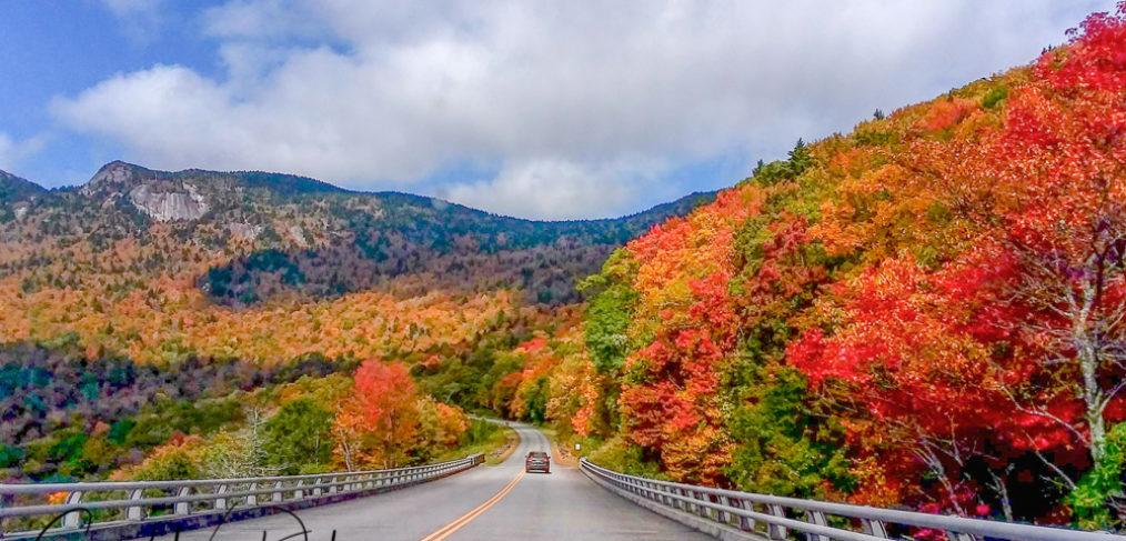 driving, blue ridge parkway, autumn