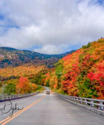 driving, blue ridge parkway, autumn