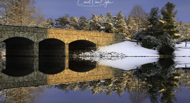 Stone Bridge in Winter